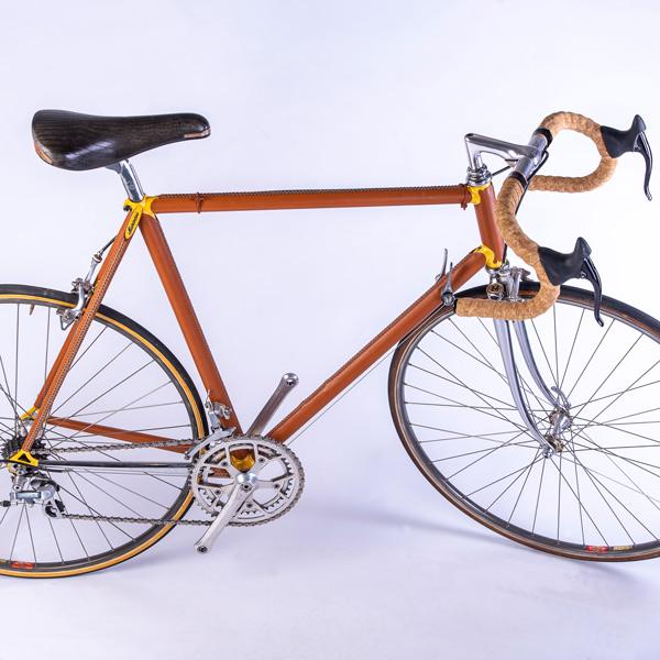 Vélo gainé en cuir